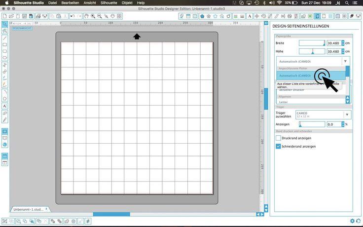 S wie Silhouette 1.0  - oder auch wichtigste Einstellungen in der Plotter-Software.