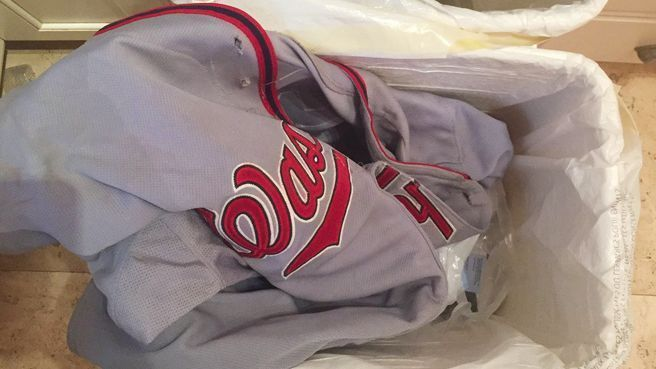 Washington Nationals pitcher Max Scherzer's wife, Erica, throws away his 'dirty' laundry