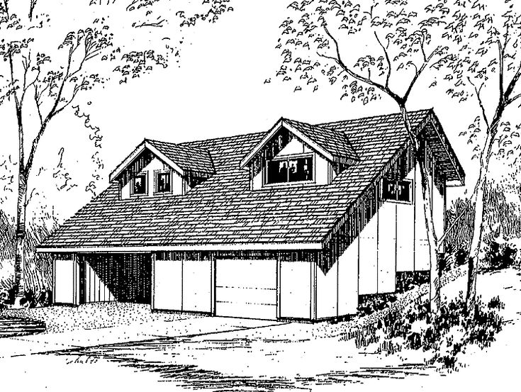 Eplans Shed House Plan - Two Bedroom Shed - 840 Square Feet and 2 Bedrooms from Eplans - House Plan Code HWEPL56343