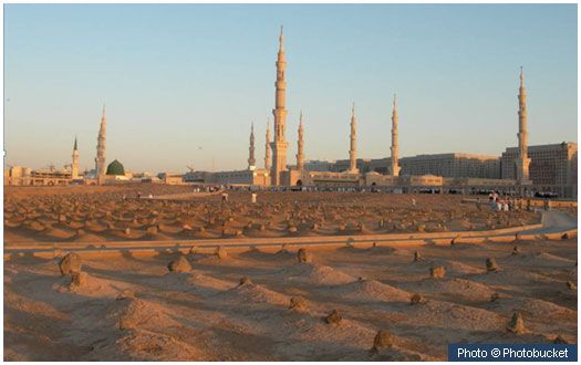 Jannatul Baqi Jannatul Baqi (Garden of Heaven) is the main cemetery of Madinah. Buried there are many members of the Prophet's (peace and blessings of Allah be on him) close family, around ten thousand of his companions (Sahabah) and many prominent, pious personalities.