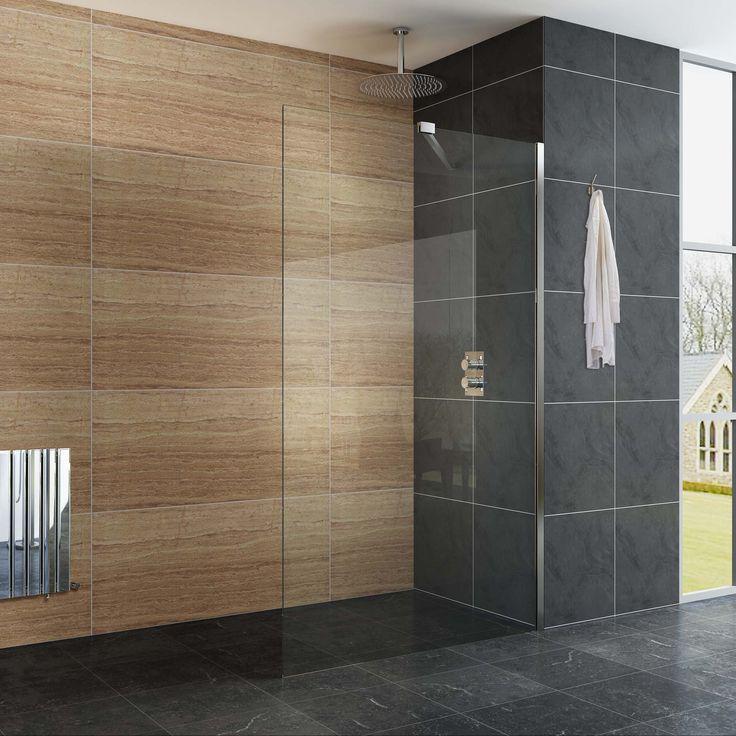 LOVELY! EasyClean Wet Room Shower Enclosure Glass - 1200mm - Premium Range £149.99
