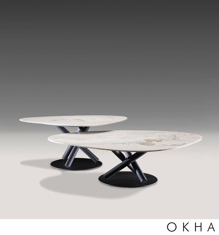 Random Coffee Table Marble Top