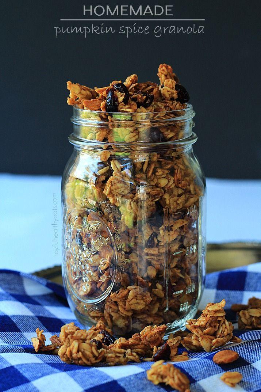 Pumpkin spice granola: