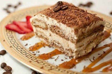 Тирамису с сыром маскарпоне и кофейным ликером