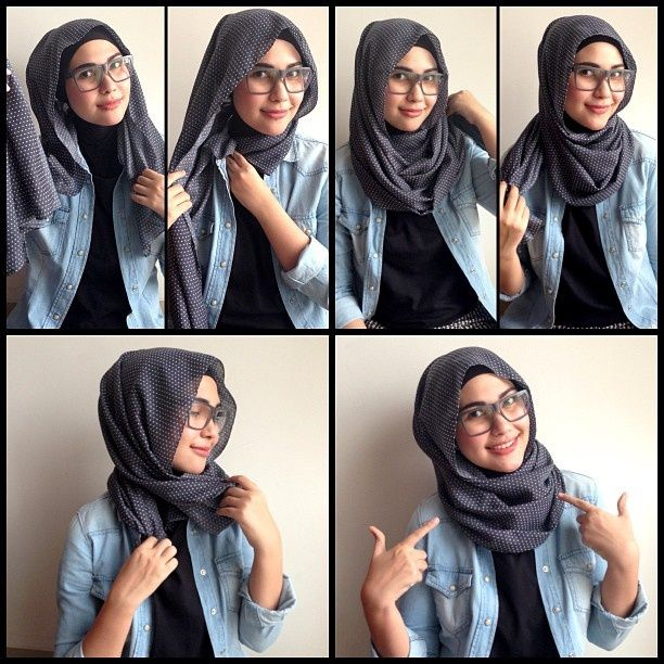 Quick Hijab Tutorial For Glasses