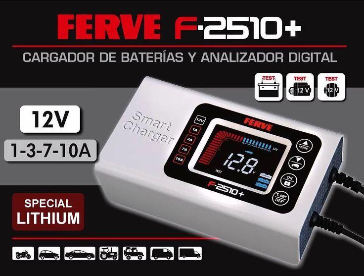 Esto es una bomba! El nuevo cargador y analizador Ferve F-2510 es un equipo portátil de un tamaño reducido que tiene la capacidad de carga de baterías de 12V y de análisis del estado de la batería el arranque y el alternador. Totalmente digital y con un funcionamiento muy sencillo es válido para uso particular o profesional. Lo tenemos en nuestra web! This is a bomb! The new Ferve F-2510 analyzer and charger is a portable device with a small size that has the capacity to charge 12V batteries…