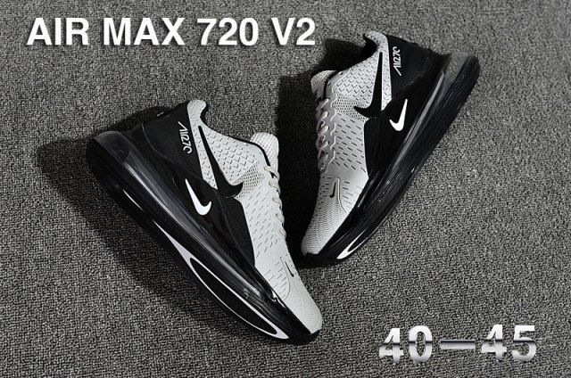 Nike Air Max 720 V2 KPU Men's Running Shoes Grey Black
