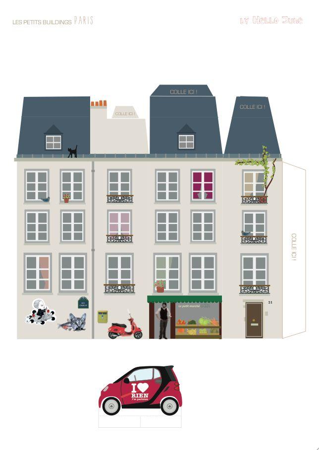 Hello June: DIY Kids: My little building PARIS. http://meinlilapark.blogspot.ch/2013/10/free-digital-autumn-fox-scrapbooking.html