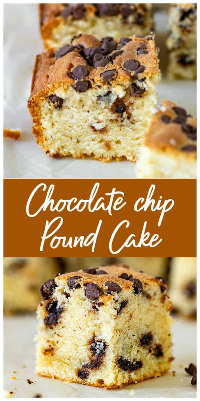 Chocolate Chip Pound Cake With Sour Cream Recipe In 2020 Chocolate Chip Pound Cake Chocolate Chip Recipes Sour Cream Pound Cake