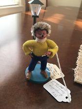RARE!Vintage Steiff Mecki Peter Figuren Lamp Post Austria Hedgehog W/ Cigarette