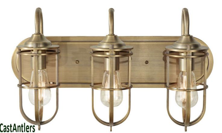 Vanity Lights Industrial : Retro/Vintage/Industrial Edison 3 Light Bathroom Vanity Fixture