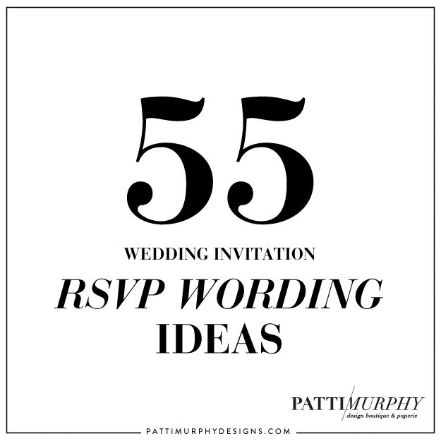 Best 25 Rsvp wording ideas on Pinterest