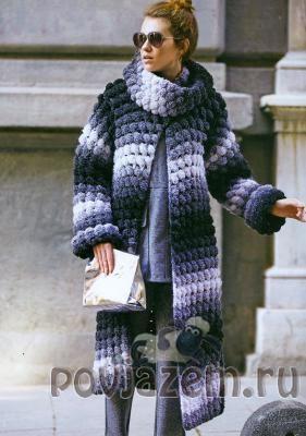 Пальто крючком