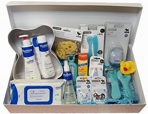 Canastilla Regalo Bebé NEWBORN-ESSENCIAL AZUL by Farmagenia Cesta para Bebés y Recién Nacidos Farmagenia Parafarmacia  http://goo.gl/Zd6fnQ