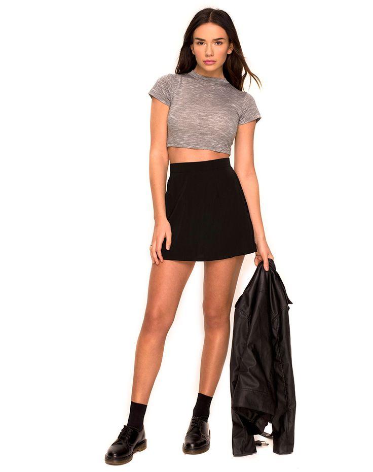 Mini Skirt In Black | Dress Journal