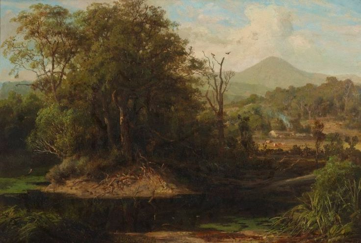 A pool at Yeringberg near Lilydale, (1880) by Louis Buvelot :: The Collection :: Art Gallery NSW