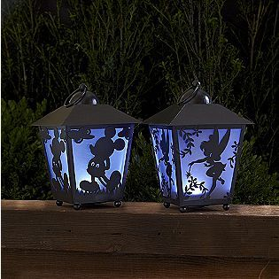 Look what I found @ Kmart..Smiles.. Disney 13in Tinkerbell & Mickey Silhouette LED Lantern with Timers..LOVE THEM!