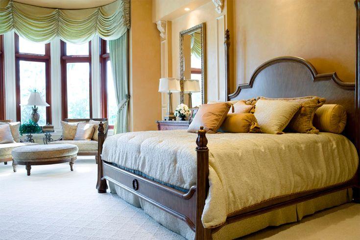 Tolles Bild von Ideen für die Platzierung eines Bettes vor einem Fenster