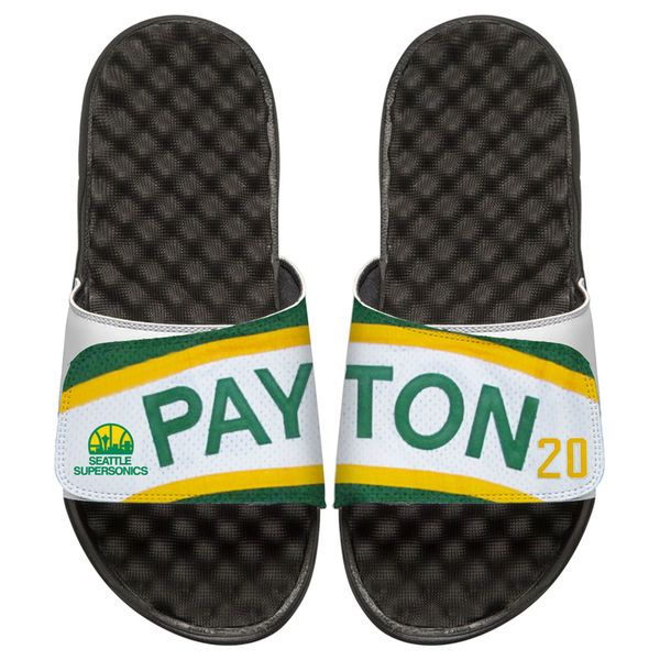 Gary Payton Seattle SuperSonics ISlide Youth Retro Jersey Slide Sandals - $50.00