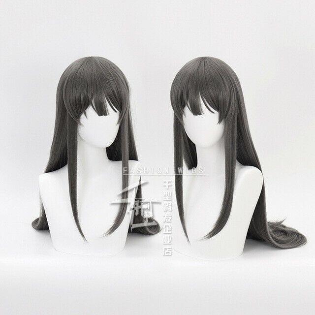 Anime Sakurajima Mai Sakurajima Mai Wig Cosplay Long Straight Synthetic Hair Wig Ad Sponsored Mai Wig A Wig Hairstyles Cosplay Wigs Hairstyles With Bangs