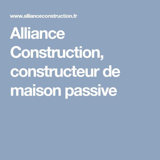 Alliance Construction, constructeur de maison passive