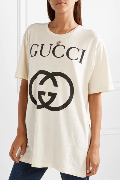 d0329245d Gucci - Printed cotton-jersey T-shirt in 2019 | My Style | Mens tops ...