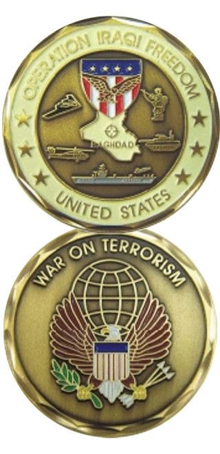 """Challenge Coins make great gifts for our Veterans, their families and civilians who want to show their support for our military. Top quality Bronze Alloy measuring 1 5/8"""" in diameter. Officially licen"""