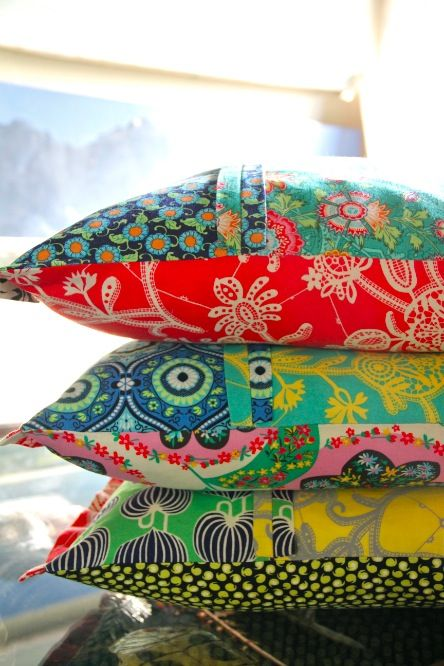 Gorgeous fabric cushions