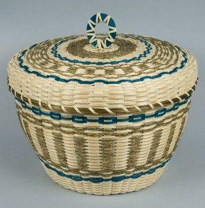 Passamaquoddy Fancy Basket by Molly Neptune Parker.