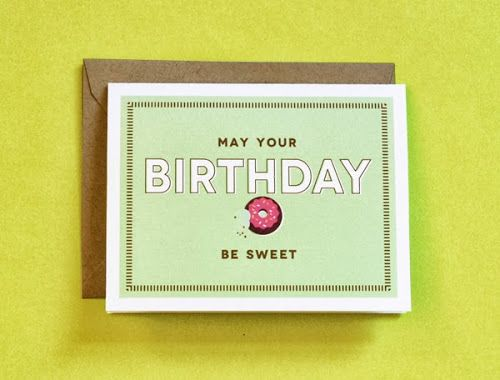 Free printable donut birthday card   How About Orange