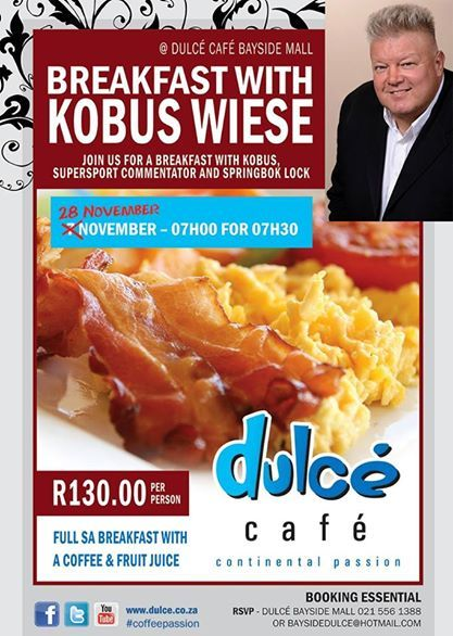 Breakfast with Kobus!