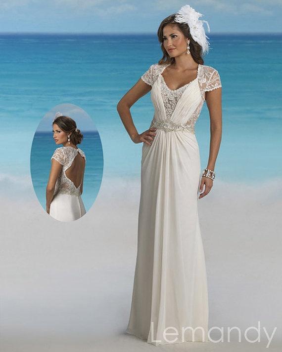 115 best Beach wedding dresses images on Pinterest   Wedding frocks ...