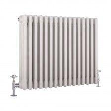Milano Windsor - Traditional White 4 Column Radiator 600mm x 765mm (Horizontal)
