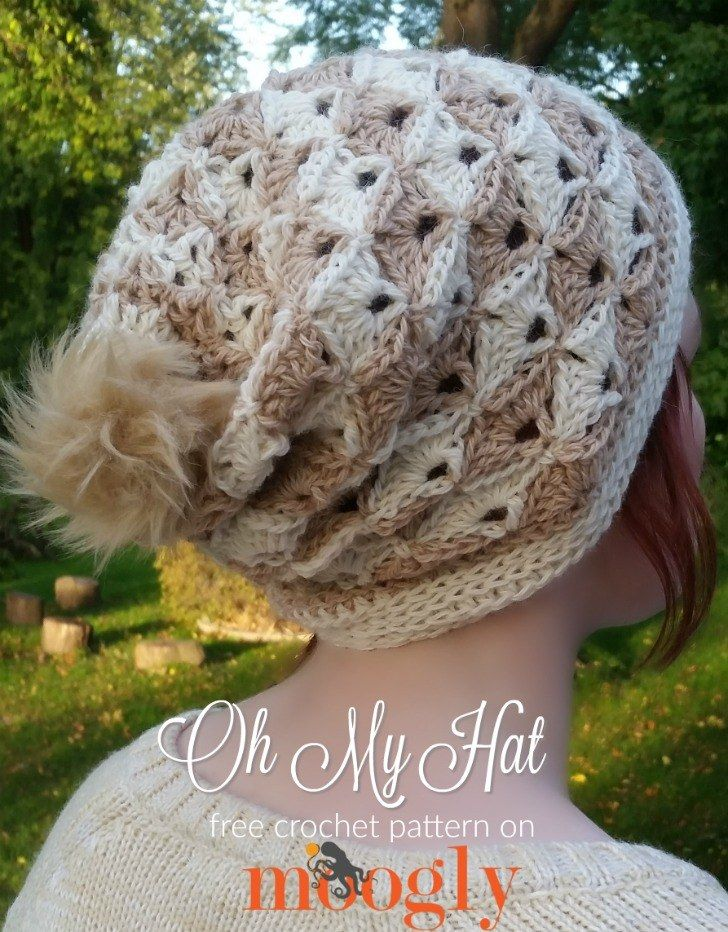 Oh My Hat - free crochet pattern on Mooglyblog.com! (and there's a matching cowl!) *** #crochet patterns #diy #gift idea #holiday #handmade #winter