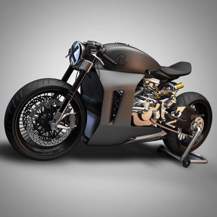 Double espresso! Ducati Corse Panigale 1199 Cafe Racer by Ziggy Moto.