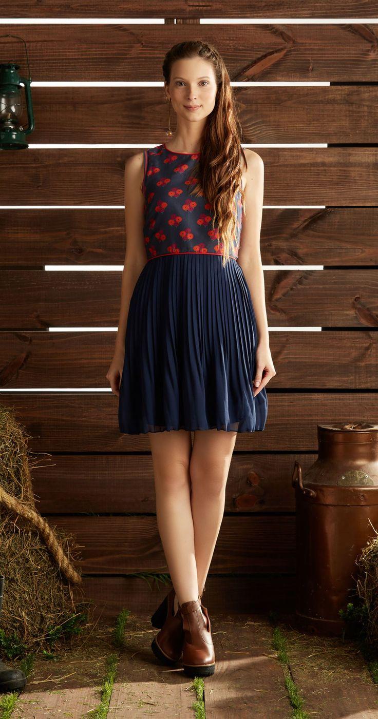 Só na Antix Store você encontra Vestido Plissado Floral com exclusividade na internet