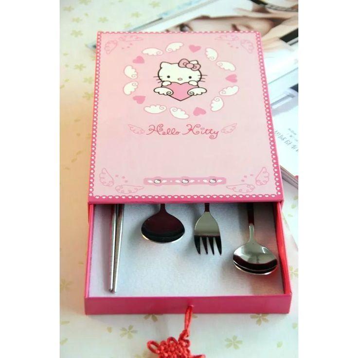 Hello Kitty 4 Piece Cutlery Gift Set