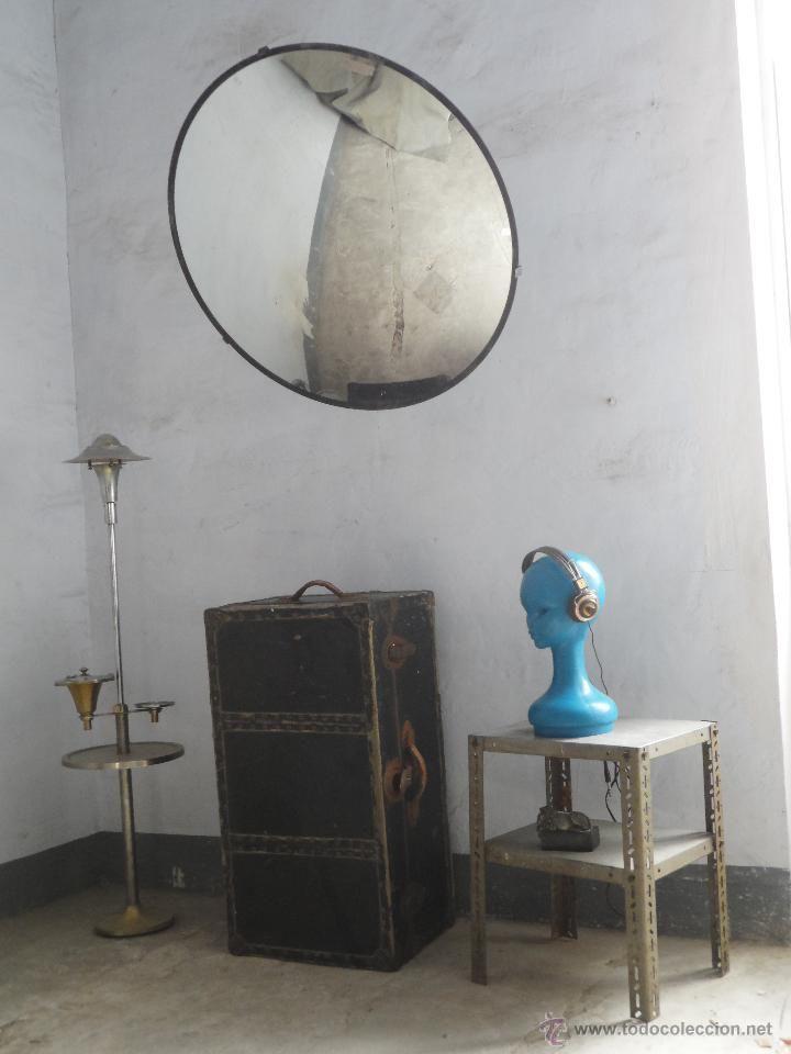 espejo vintage enorme espejo convexo anti robo decoracion industrial original con soporte