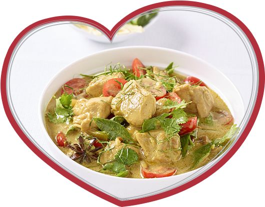 Simple Coconut Chicken Curry with Tomatoes and Asian Herbs __   Ingham's Chicken  __  Chicken, Coconut Curry, Thai,