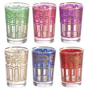 Set of 6 Turkish Window Glasses