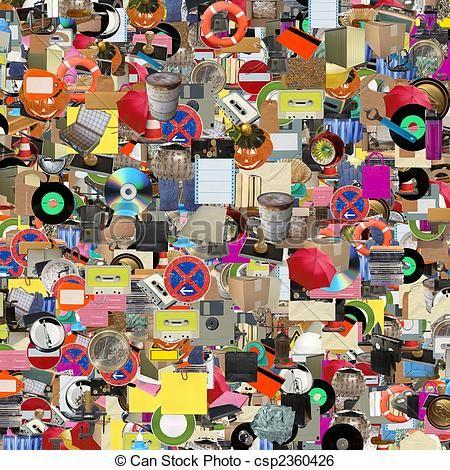 collage con objetos - Google Search