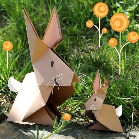 Origami-Hasen
