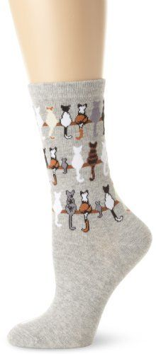 K. Bell Socks Women's Cats On A Line Socks, Gray, 9-11 K. Bell. $8.00. Novelty styling. Machine Wash. 60% Polyester/38% Polyester/2% Spandex. Whimsical
