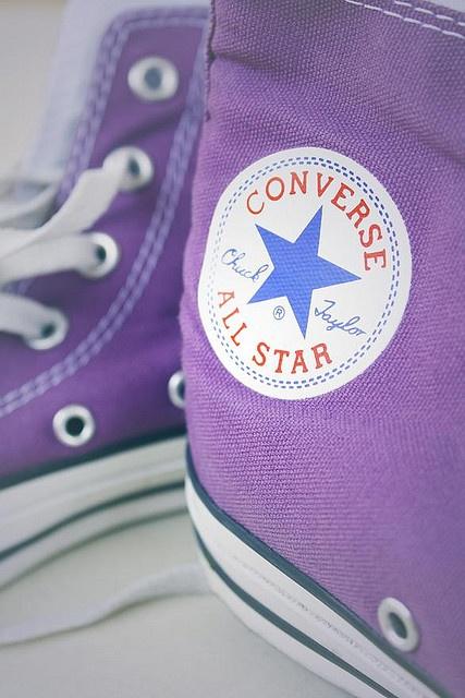 Super leuke paarse all stars converse