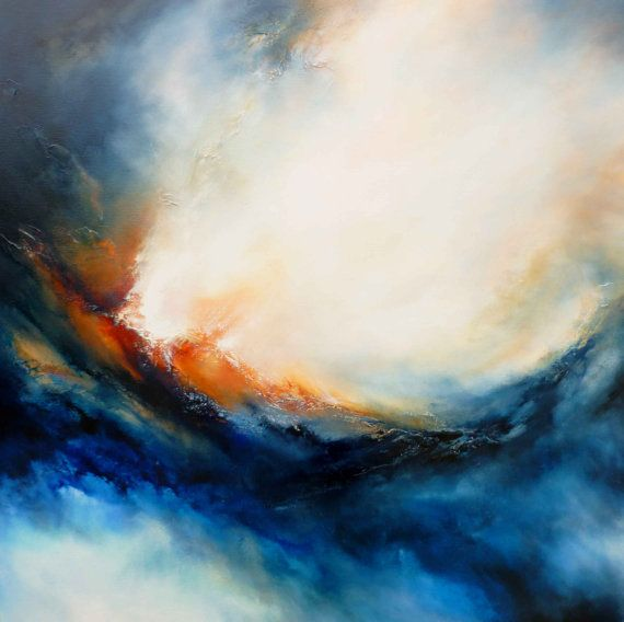 Large Canvas Abstract Oil Painting by by SimonkennysPaintings, £2295.00