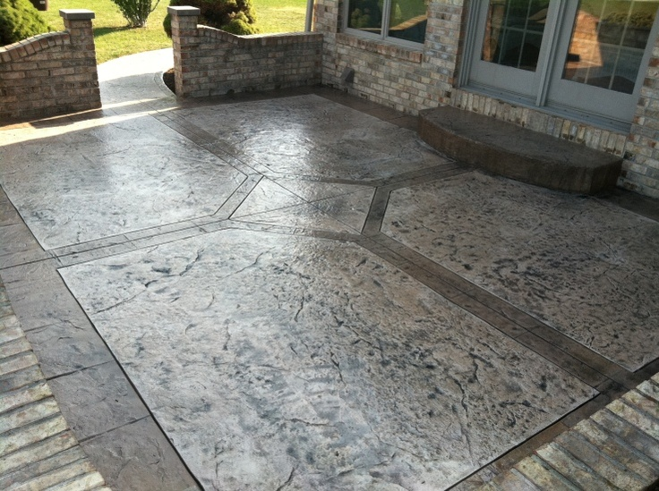 Stamped Overlay Patio Resurfacing   Lima OH | Decorative Concrete Patios |  Pinterest | Patios, Concrete And Decorative Concrete