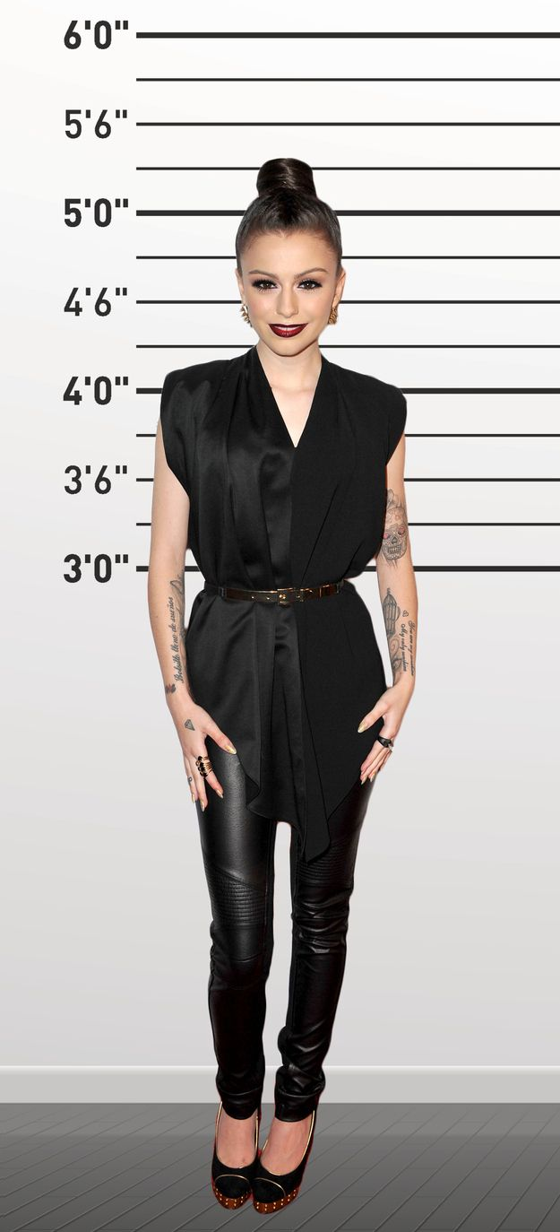 """Cher Lloyd. (5'1"""") is a petite hourglass, with the drapes, cinching her waist and wearing the same color head to toe, doesn't she look wonderful?"""