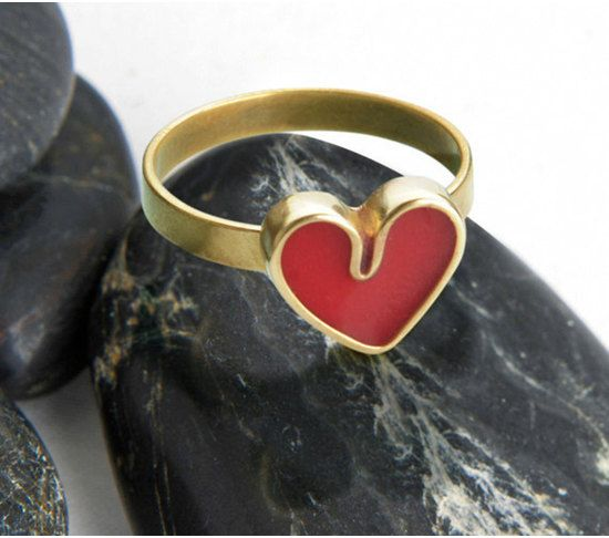 valentines day heart ring