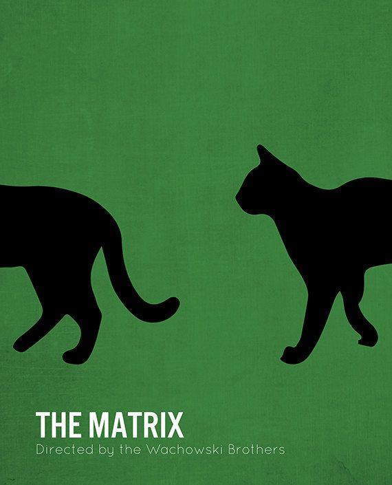 Affiche du film Matrix minimaliste cinéma The par MicrowaveDesigns