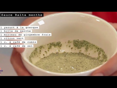 Sauce Raïta menthe - Recette indienne